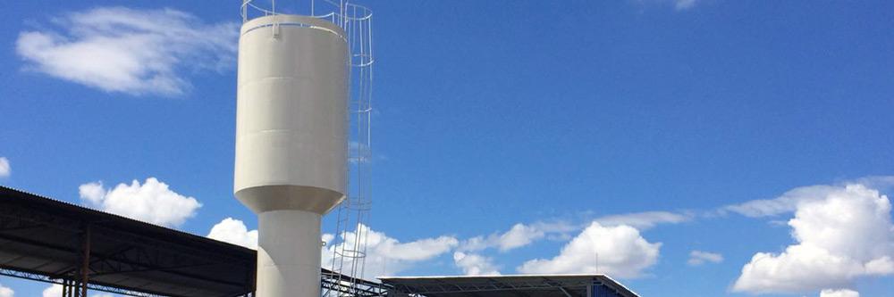 Fabricação de caixas d'água e guarda corpo para reservatórios