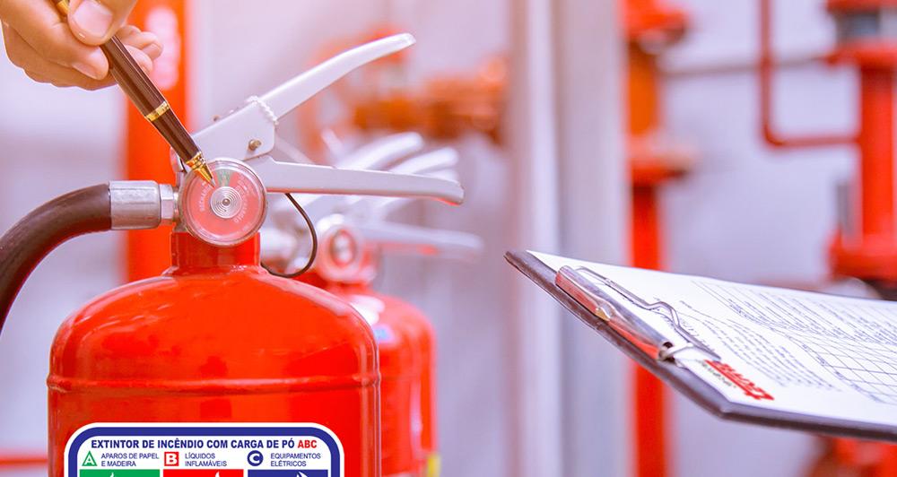Manutenção em equipamentos de segurança