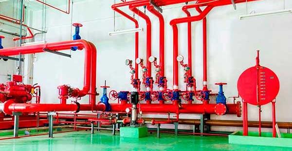 Sistema fixo de supressão a incêndios por agentes limpos