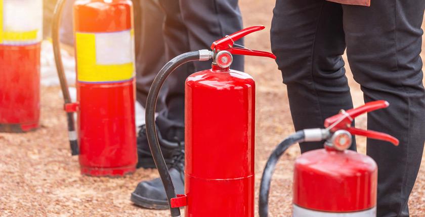 Extintores de incêndios EPCs