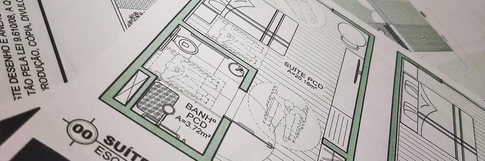 Readequação de projetos arquitetônicos, comerciais, combate à incêndio, estruturais, hidráulicos e elétricos.